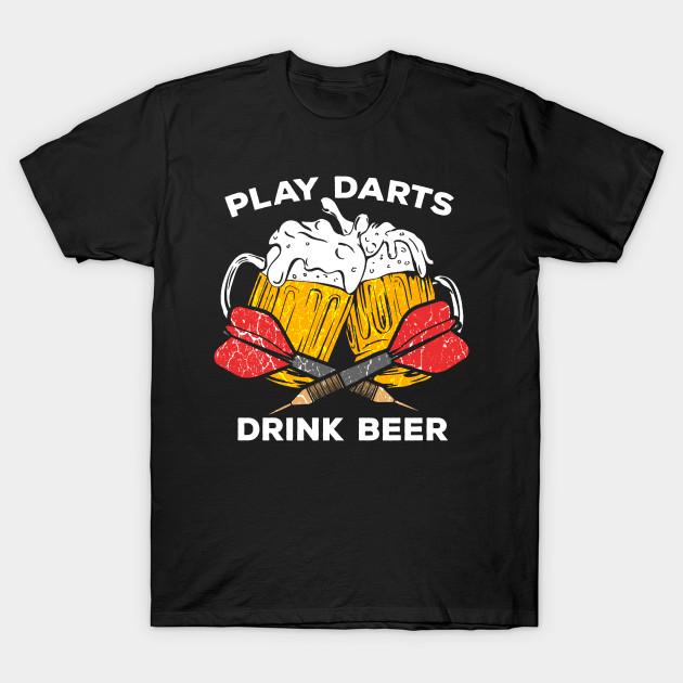 Funny Darts play dart drink Beer Team Player Pub Gift by mrteee