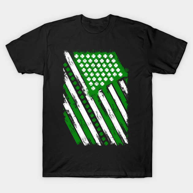 Saint Patrick's Day Irish American Flag T-Shirt