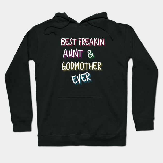 BAE Best Auntie Ever Ladies Hoodie Funny Aunt Hoody Present Womens Gift Hood