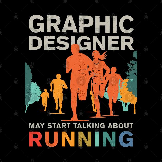 Runner Graphic Designer Running Shirt, Graphic Designer Runner Mask, Running Graphic Designer Stickers & Gifts