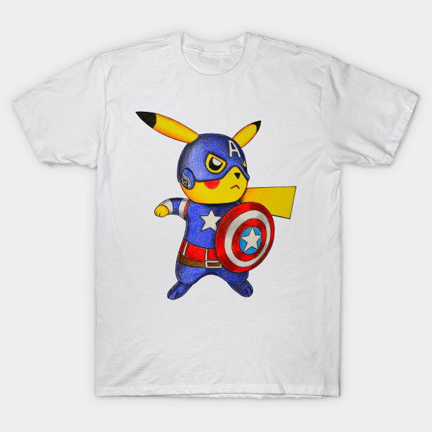 ec977aef Captain Pikachu - Pokemon Mashup - T-Shirt | TeePublic