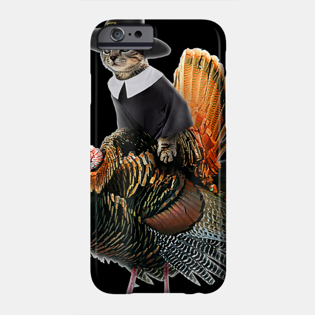 Thanksgiving Cat Pilgrim Shirt Thanksgiving Turkey Phone Case