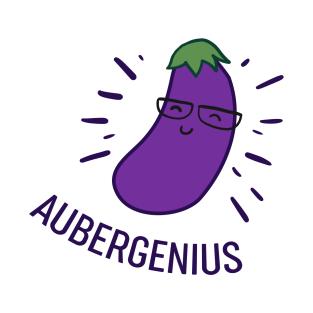 Aubergenius - Puns, Funny - D3 Designs t-shirts