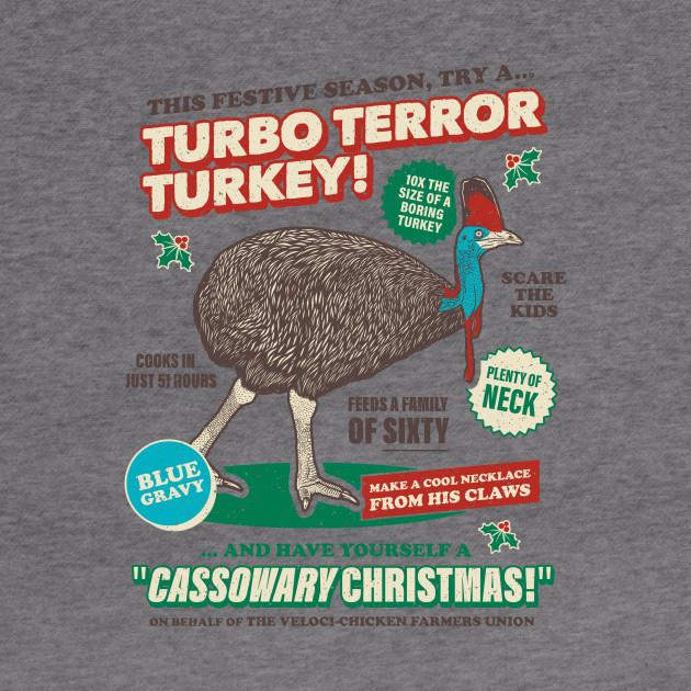 Cassowary Christmas Turbo Terror Turkey Cassowary Hoodie Teepublic