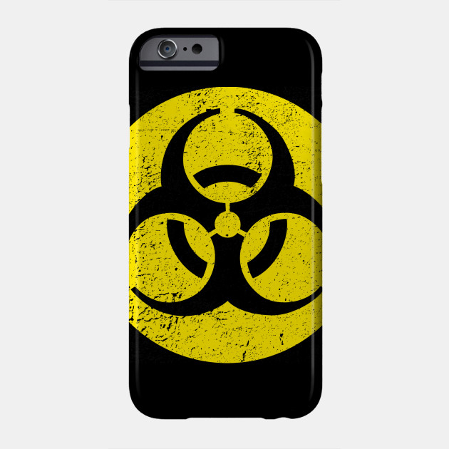 biological hazard warning distressed biohazard phone case