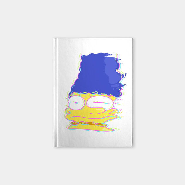 Neon Bright Cartoon Marge Smear Face