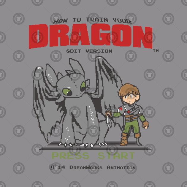 12fae98f How To Train Your Dragon 8Bit Version - Mashup - Hoodie   TeePublic