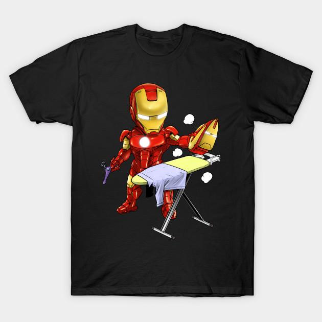 iron man ironman parody iron man t shirt. Black Bedroom Furniture Sets. Home Design Ideas