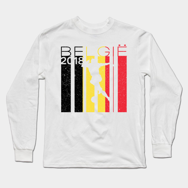 Belgium Football 2018 Jersey Belgian Soccer - Belgium - Long Sleeve ... 5681fdb08