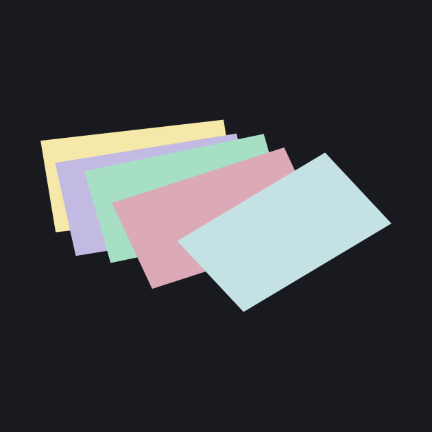 Limited Edition Exclusive Stack Of Unlined Colored Index Cards
