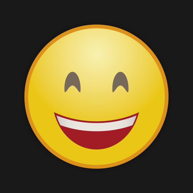 laughing smiley with crescentic eyes