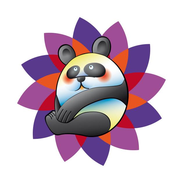 colorful panda bear panda t shirt teepublic