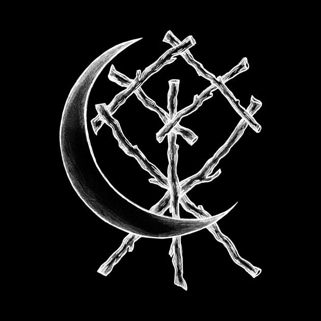 Crescent Moon Rune Binding at Midnight