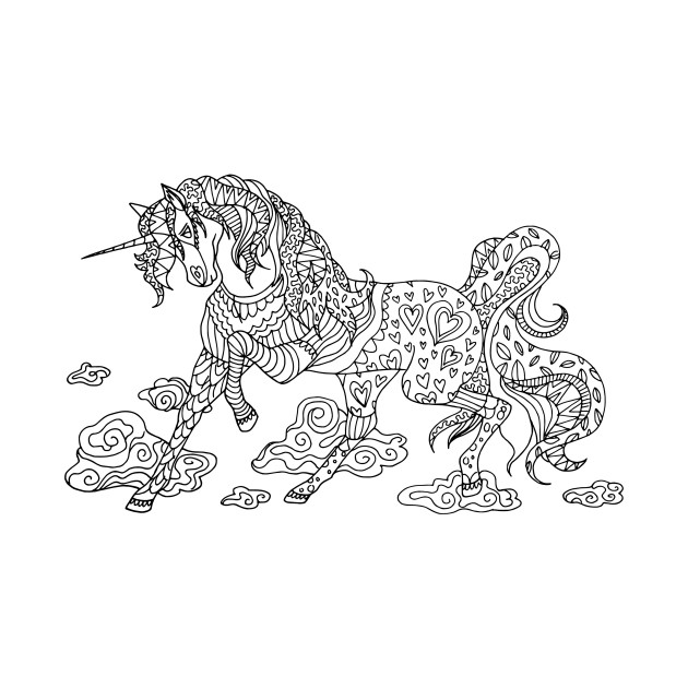 Mandala Unicorn - Unicorn - T-Shirt | TeePublic