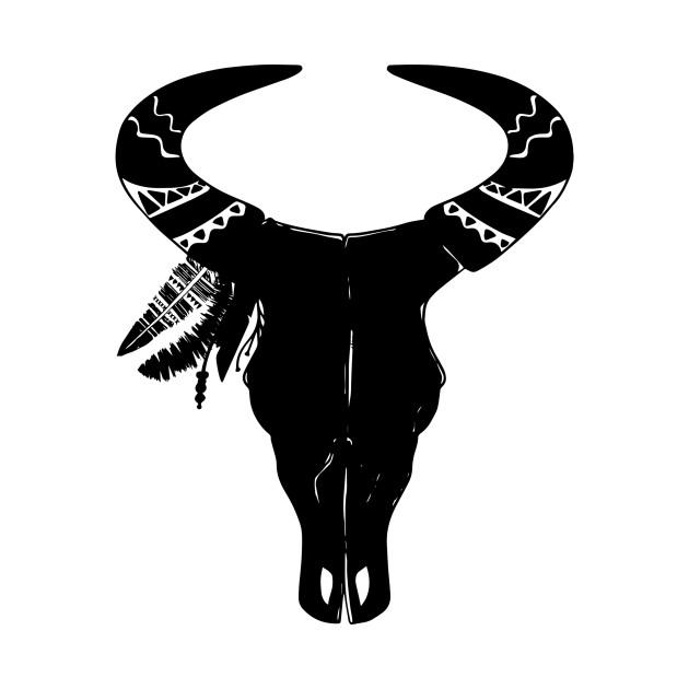 Southwest Black Bull Native American Cow Animal SkullSouthwest Black Bull Native American Cow Animal Skull