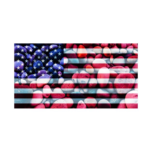 Flag of the United States of America – Bed of Rocks