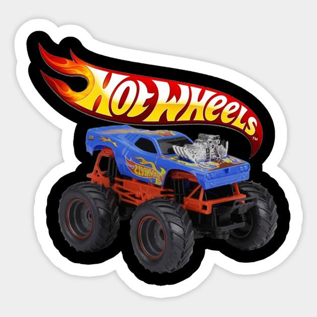 Hotwheels Monster Truck Hotwheels Monster Truck Sticker Teepublic Uk