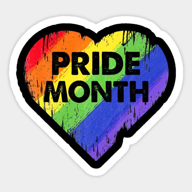 LGBT Pride Month Heart Gay Lesbian Pride Month - Lgbt Pride Month ...