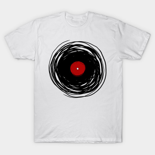 Spinning within with a vinyl record oldies dj retro for Vintage record company t shirts