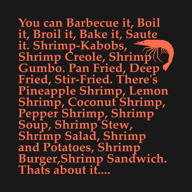 Forrest Gump Shrimp Quotes: Forrest Gump Shrimp Quote - Forrest Gump - Hoodie