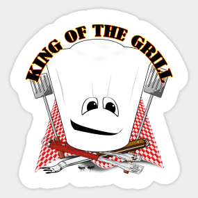 205c50d3e King of the Grill - Grill Master Sticker