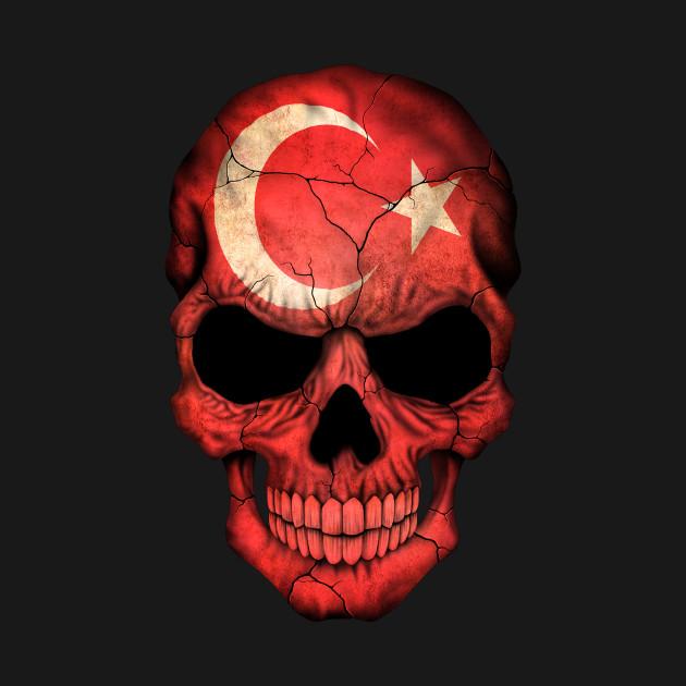 turkish flag skull turkish t shirt teepublic