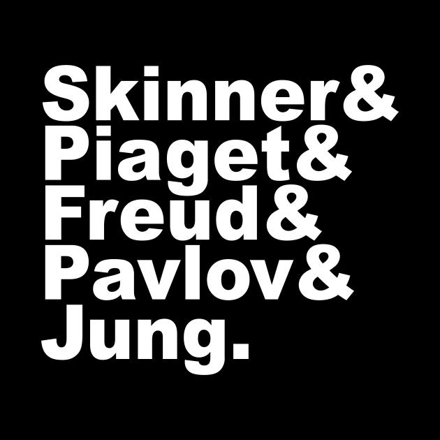 Famous Psychologists Funny Helvetica List