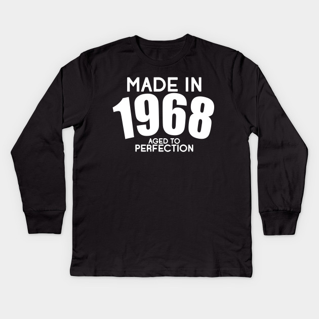 Born In 1958 Happy 50th Birthday Gift Kids Long Sleeve T Shirt