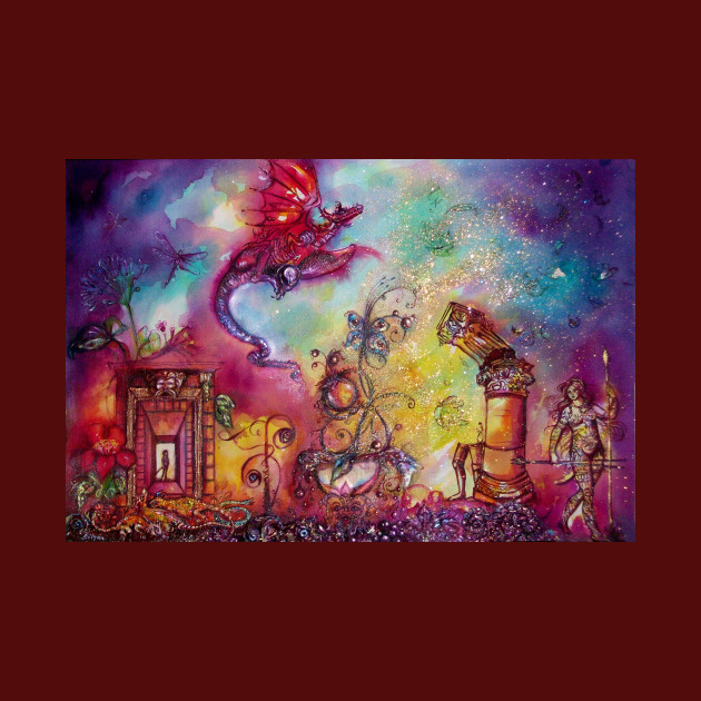 GARDEN OF THE LOST SHADOWS ,FLYING RED DRAGON