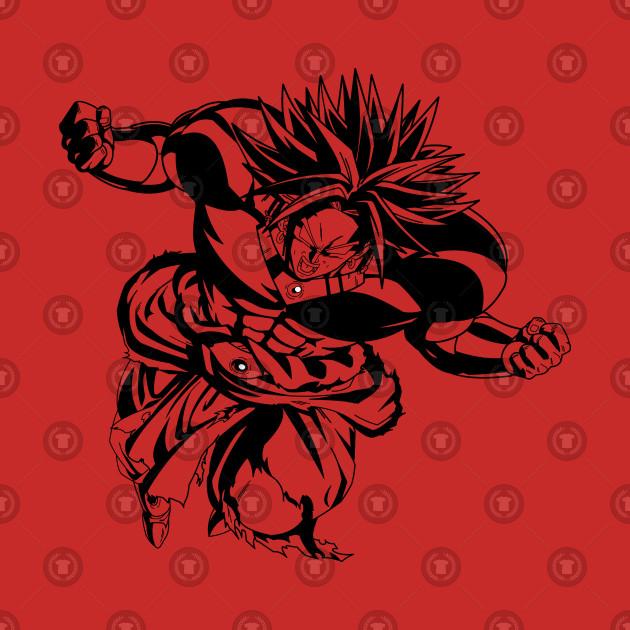 Dragon Ball Z Legendary Super Saiyan Broly T-Shirt Anime Manga ... 2998dccca2b0