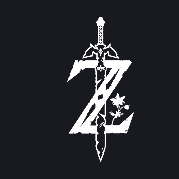 Breath of the Wild Z-Logo (Transparent/White)