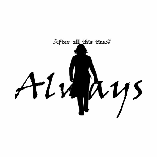 Snape Silhouette Always - Light Colored Shirts