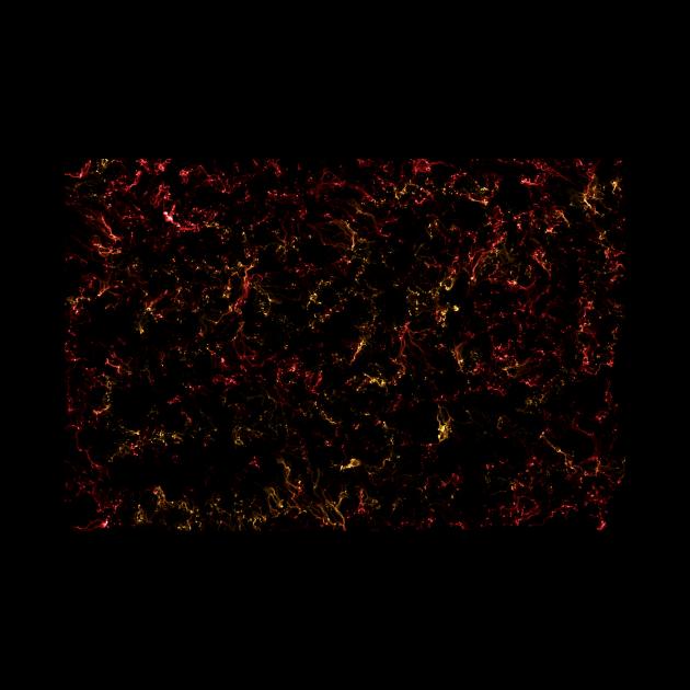 Red and gold nebula