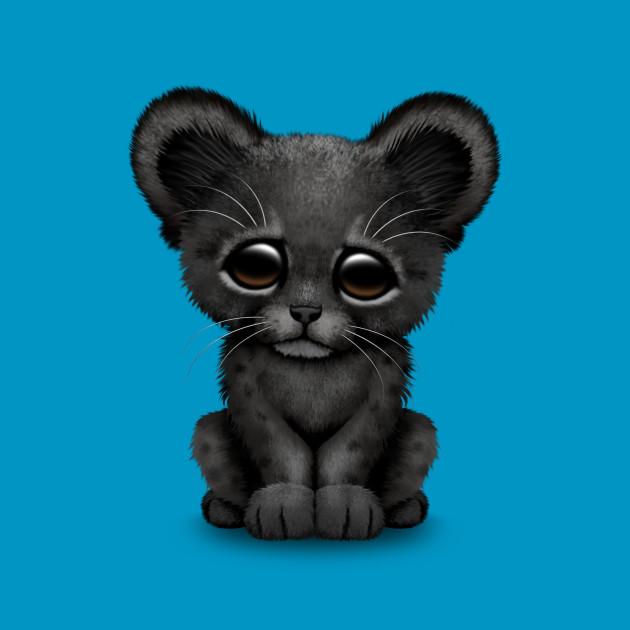 Cute Baby Black Panther Cub - Black Panther - T-Shirt ...