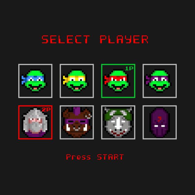 Ninja Turtles - Select Player