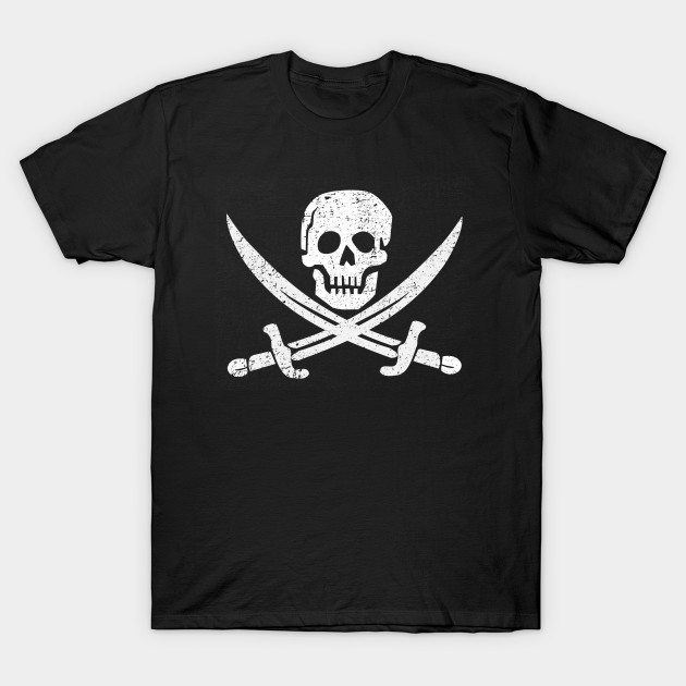 Pirate Jolly Roger distressed