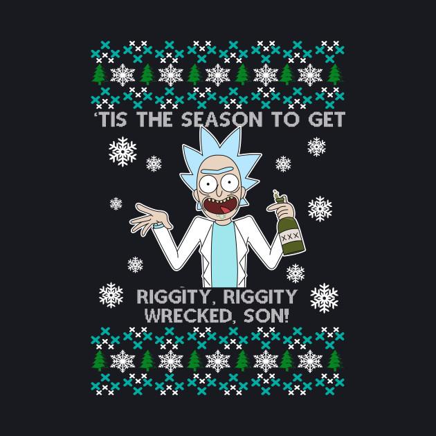 Rick and Morty Chrtismas Tee