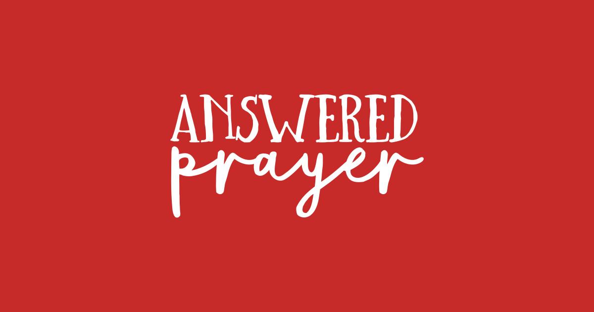 de9b8faa1 Answered Prayer - Religion Slogan - Onesie   TeePublic