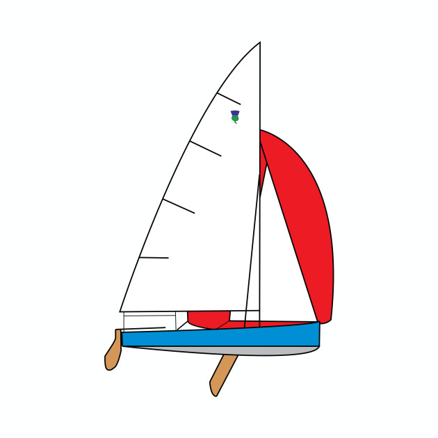 Thistle Sailboat - Light Blue