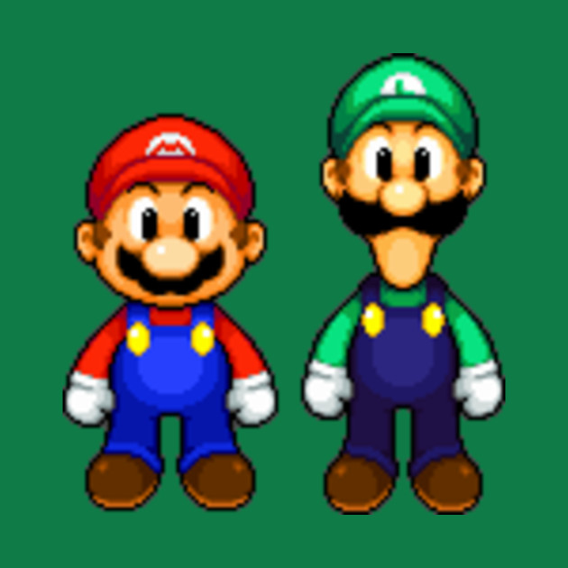 Mario And Luigi Pixel Art