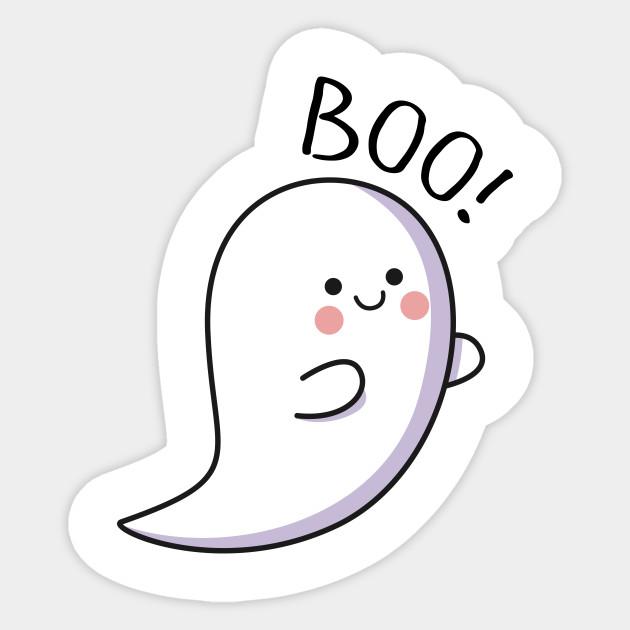 cute ghost - Flying Cute Ghost - Sticker | TeePublic