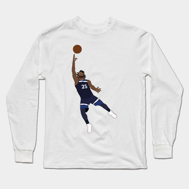 44a3f6c6155 Derrick Rose - Minnesota Timberwolves - Nba - Long Sleeve T-Shirt ...