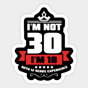 Main Tag 30th Birthday Gift Stickers