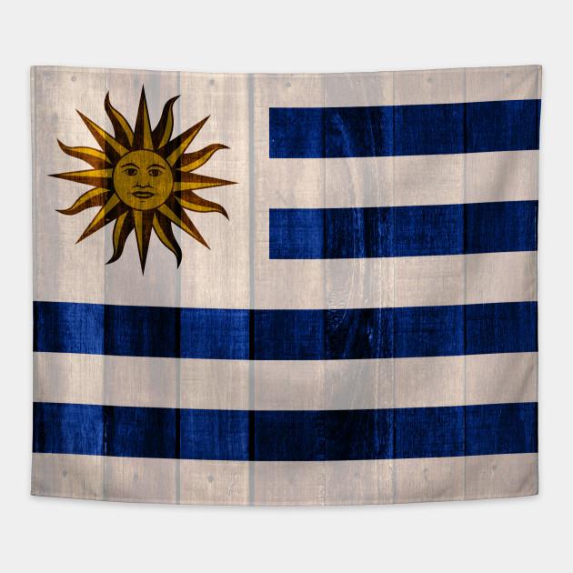 Flag of Uruguay - Wood