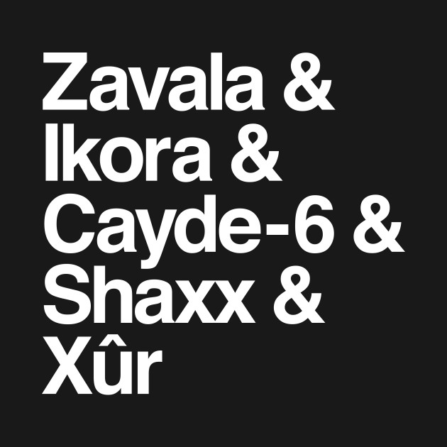 Destiny: Zavala & Ikora & Cayde-6 & Shaxx & Xûr