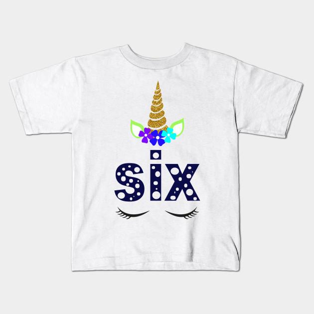 Unicorn Toddler Girl 6th Birthday Boy Shirt Kids T