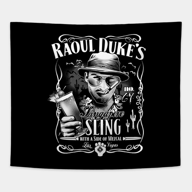 1686f2b7 Raoul Duke's Singapore Sling - Hunter S Thompson - Tapestry | TeePublic