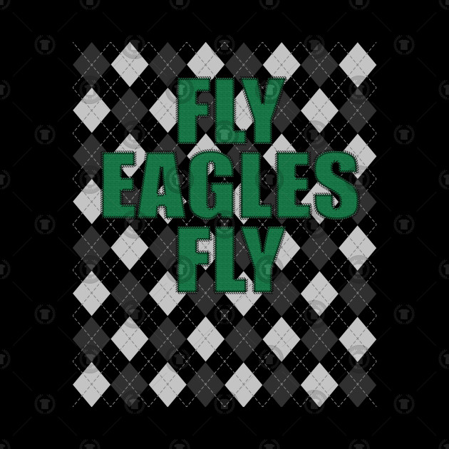 Fly Eagles Fly Argyle Eagles Ugly Christmas Sweater