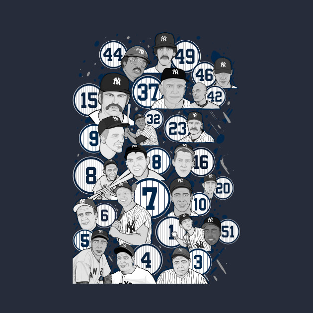 New York Yankee legends collage