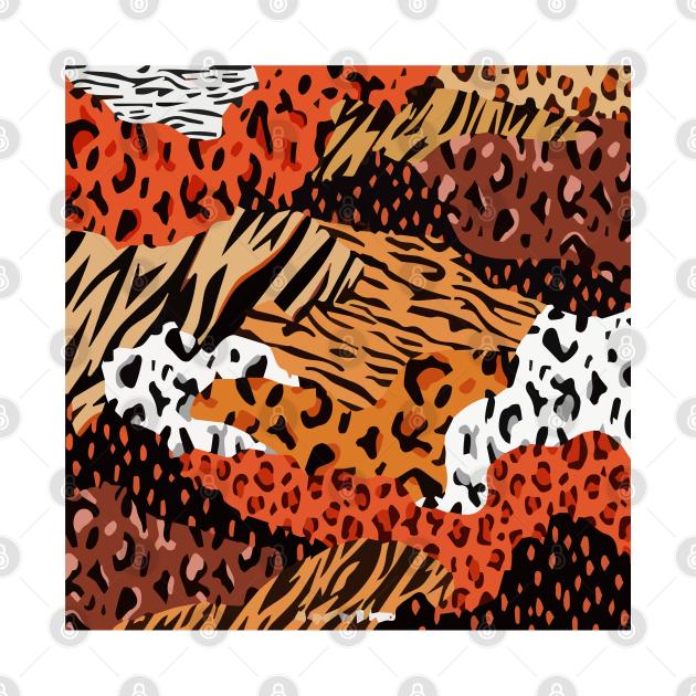 Animal mashup print.